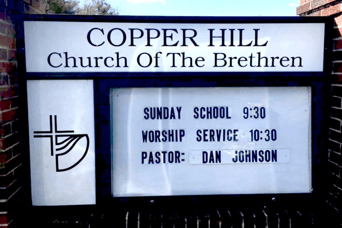 Copper Hill Church of the Brethren sign