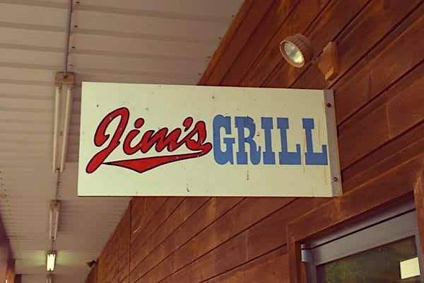 Jim's Grill sign