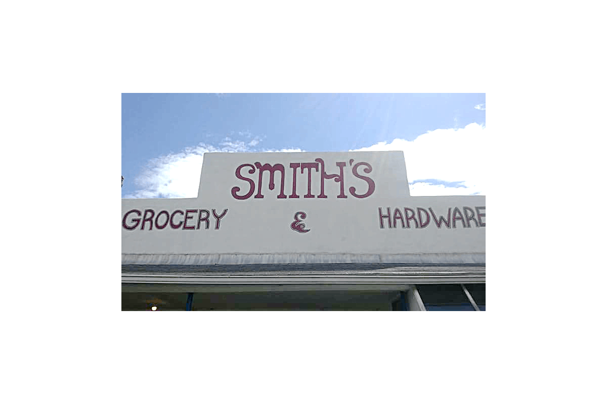 Smiths-Grocery and Hardware sign