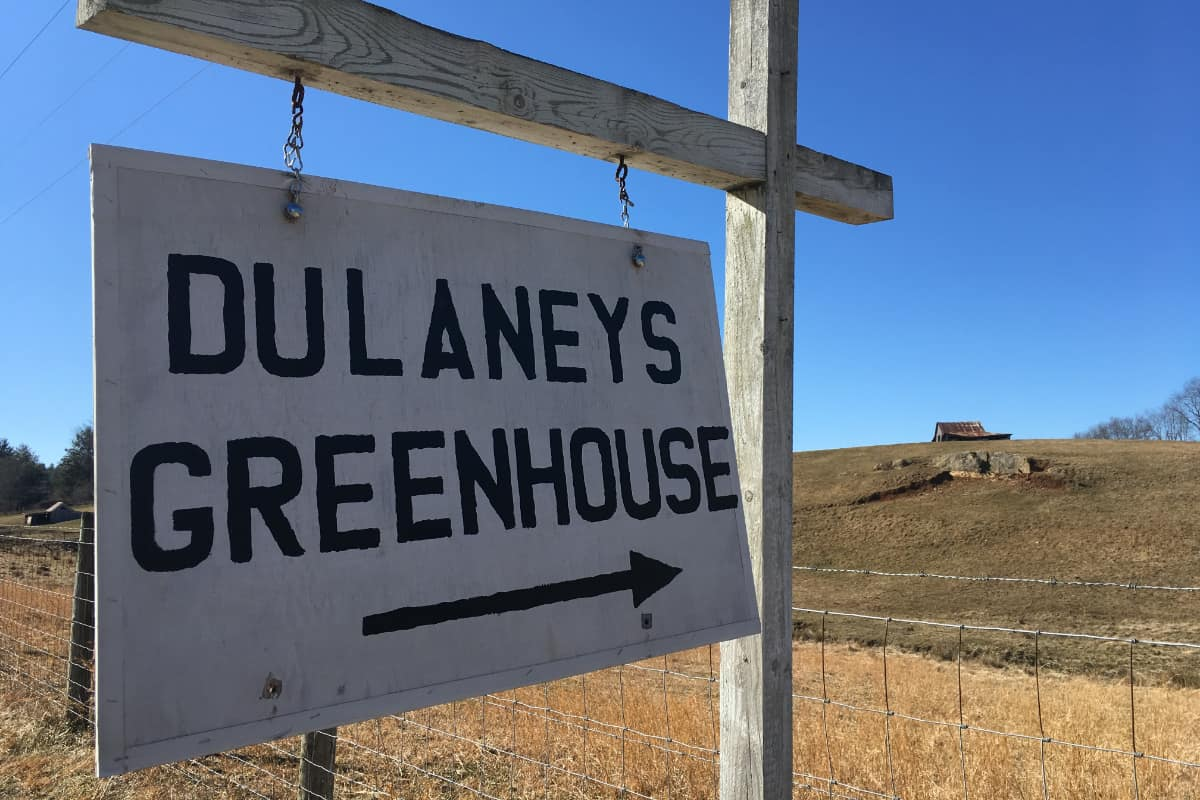 Dulaney's Greenhouse Sign