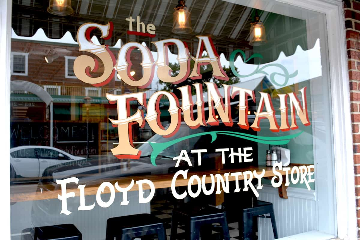 The Soda Fountain at the Floyd Country Store