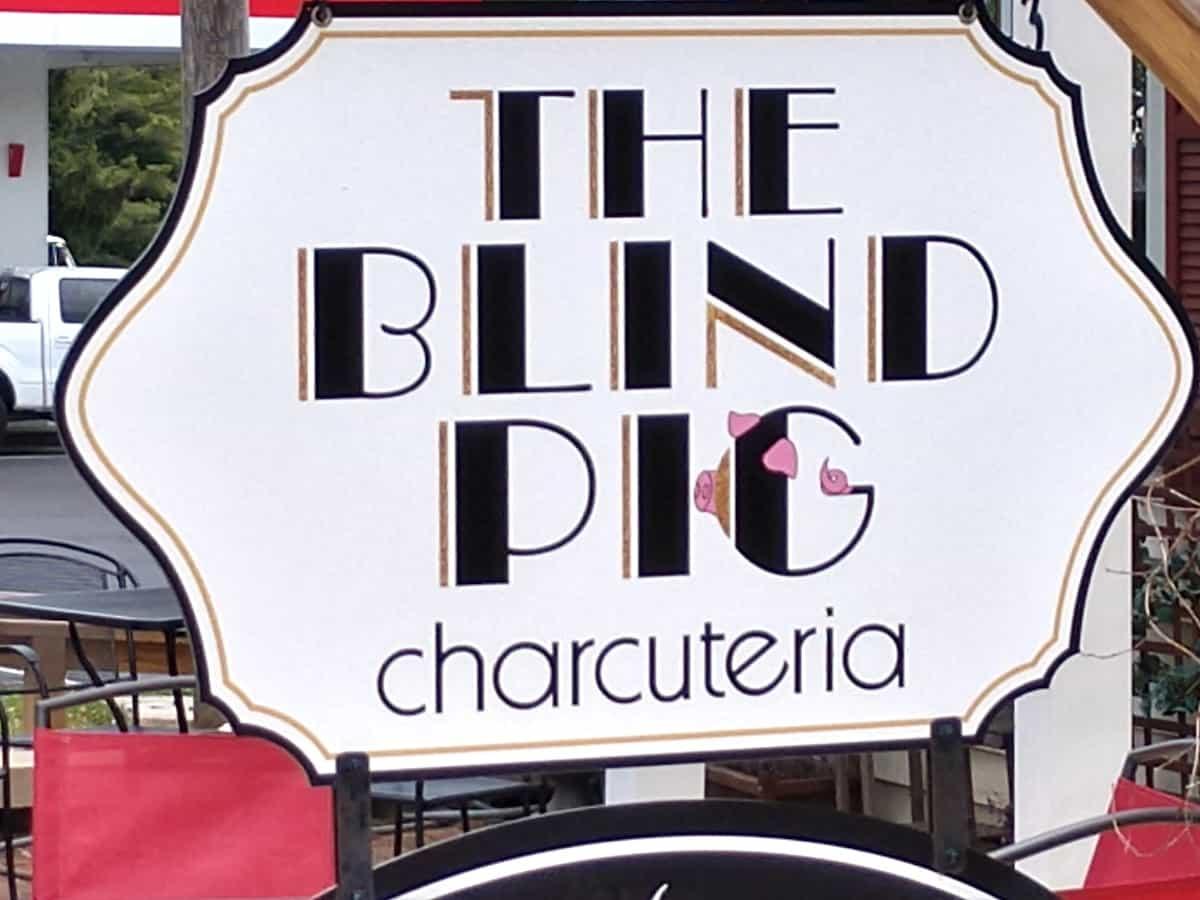 Blind Pig sign